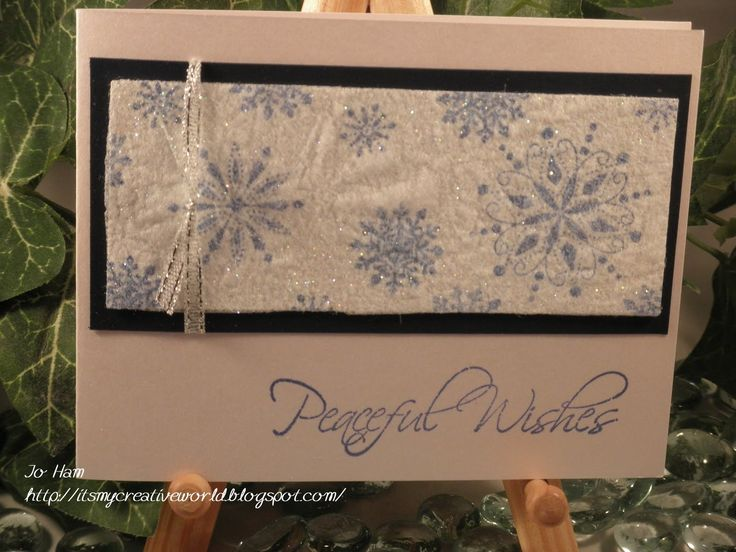 stampin up with dryer sheets | This is done using Stampin Up stamps. I used a dryer sheet over the ...