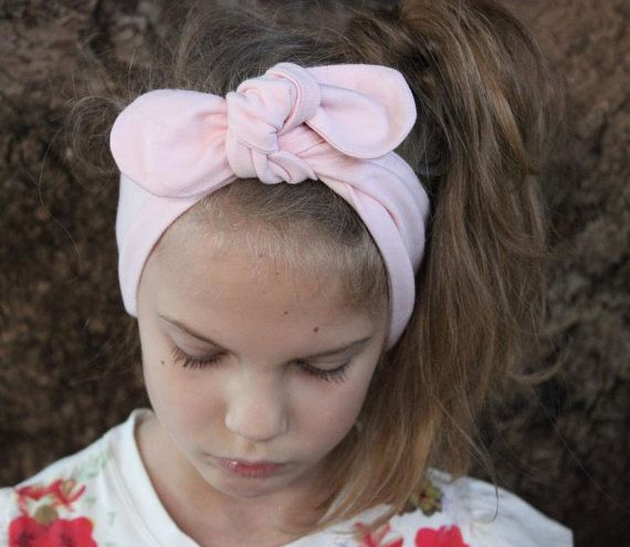 Baby Turban Headband pastel pink Ashley baby by ElleBelleBliss $11.50 AUD