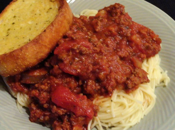 Mom's Spaghetti Sauce - My Mom used hamburger...we had 10 in our ...