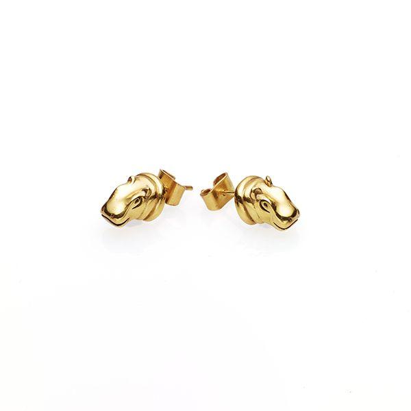 PUSHMATAaHA // Hippo Stud Earrings / Gold