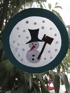 Snowman...i would add a base to make it a snow globe