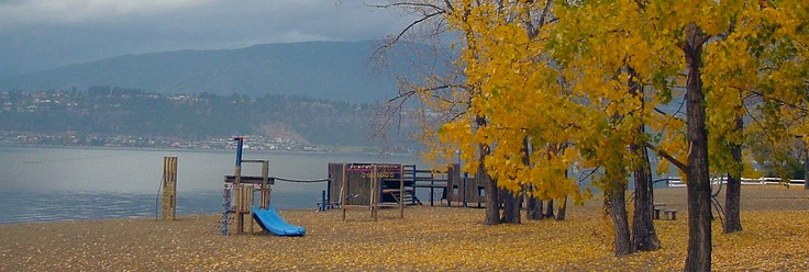 Beautiful fall image of Kelowna beach