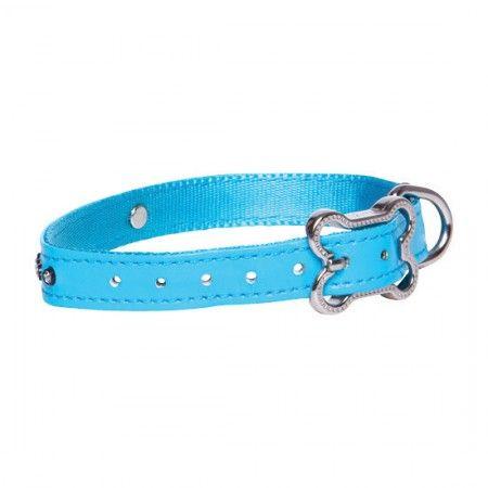 Rogz Lapz Luna Dog collar Blue - Medium