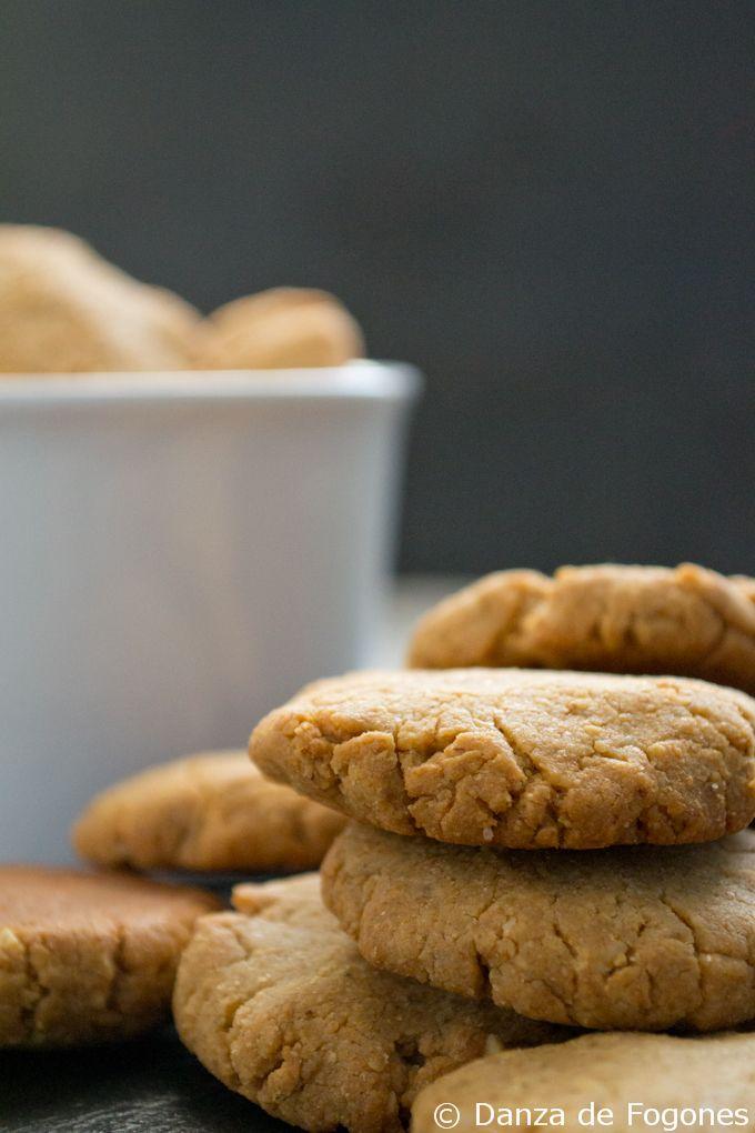 galletas veganas de mantequilla de cacahuete