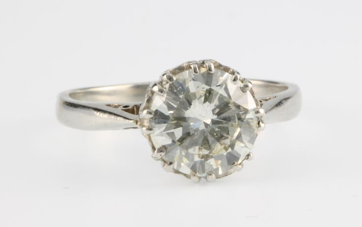 Lot 870, A platinum single stone diamond ring, approx 2ct together with IGR report, colour H/I, clarity VS2, size V, est  £8250-8750