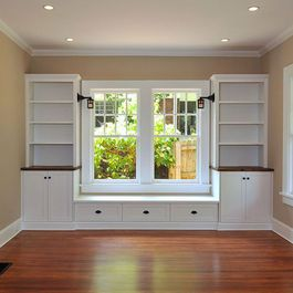 Window Bench Storage Design Ideas, Pictures, Remodel, and Decor