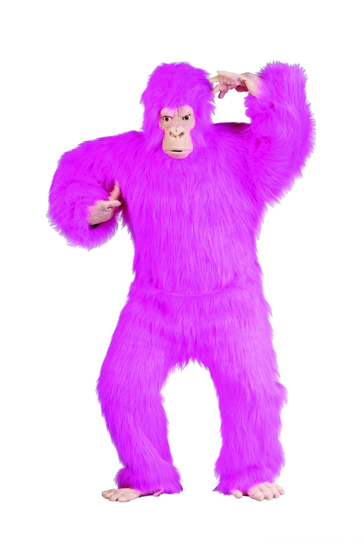 Awesome Costumes Pink Plush Adult Gorilla Costume just added...