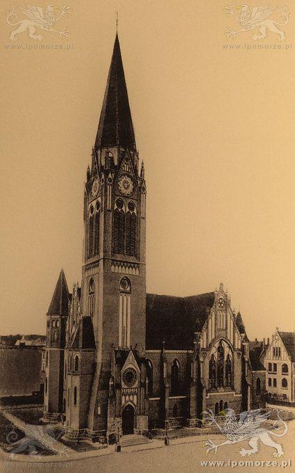 Świnoujście. Kościół pw. Marcina Lutra. Stan z początku XX wieku