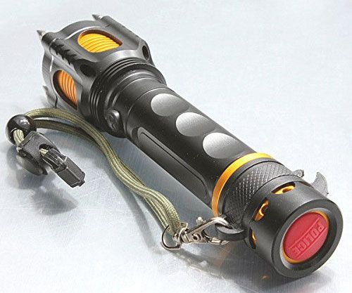 Whether the aim is to fend off things that go bump in the night or a would-be assaulter, the tactical self defense flashlight is the tool for the job. Apart from shining a bright beam of 2000 lumens, the head comes lined with spikes ideal for inflicting pain.