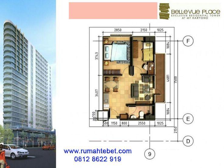 Apartemen Bellevue Place Tebet Type 2 Bedroom