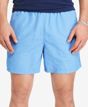 Polo Ralph Lauren Men's Big & Tall Hawaiian Swim Boxers - Harbor Island Blue 2LT