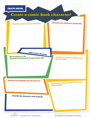 Worksheets: Create A Superhero