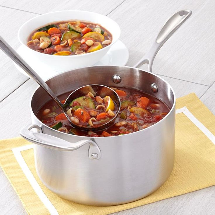 Minestrone Soup Recipe from our friends at American Kitchen. Perfect for cool fall and winter evenings. Find it on the Recipes & Tips tab. #soups #recipes