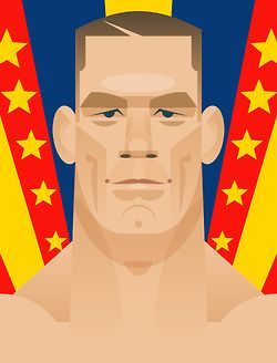 Poster ofJohn Cena - WWE Universe, free in this months WWE magazine! Stanley Chow
