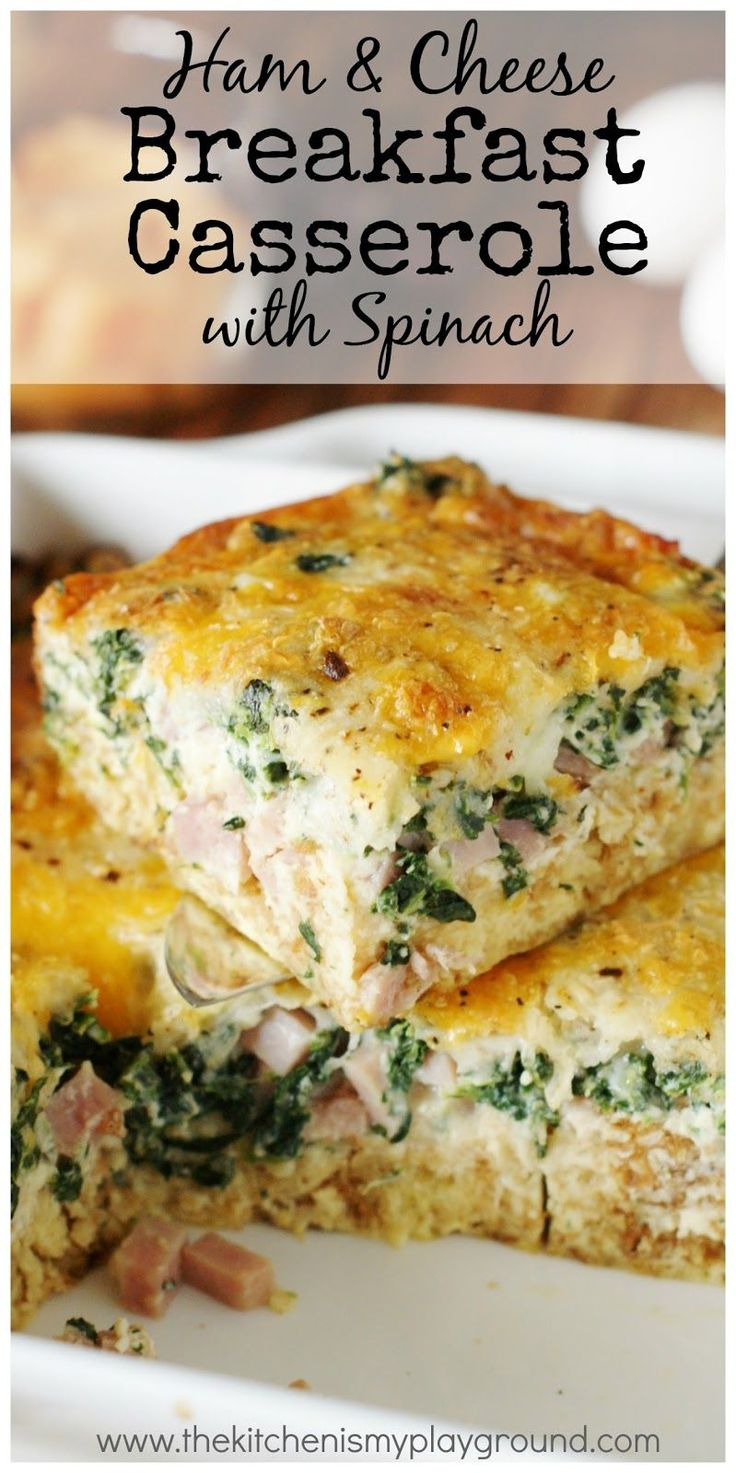 Delicious Ham & Cheese Breakfast Casserole with Spinach gets extra flavor punch from a surprising ingredient.