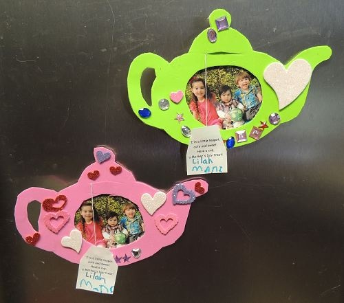 Teapot photo frame, magnet, card for Mother's Day!