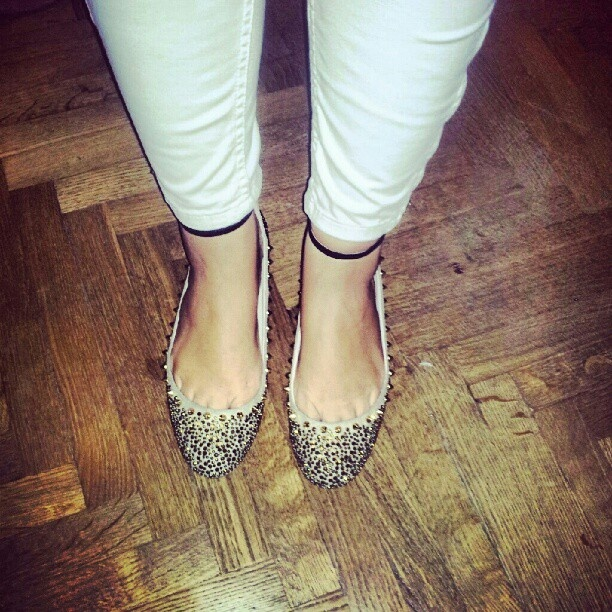 Zara glam and studs shoes