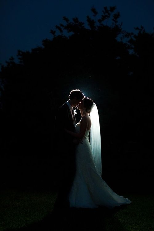 Backlight for bridal silhouettes are a must!