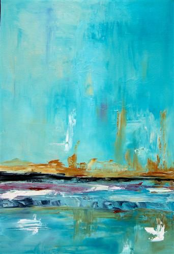 turquoise painting by barbara dudding
