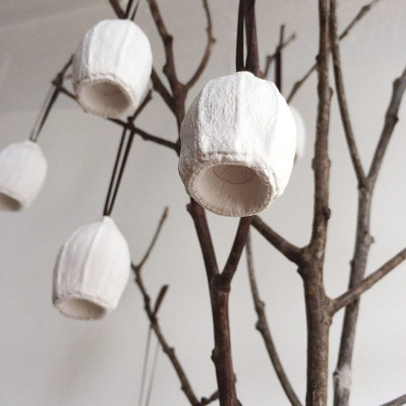 Australian gumnut ornaments - a set of five cast plaster christmas decorations handmade in Australia by Kuberstore