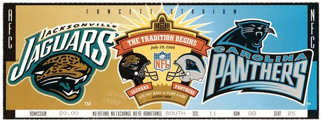 Panthers and Jaguars debut in Hall of Fame game | Pro Football Hall of Fame Official Site