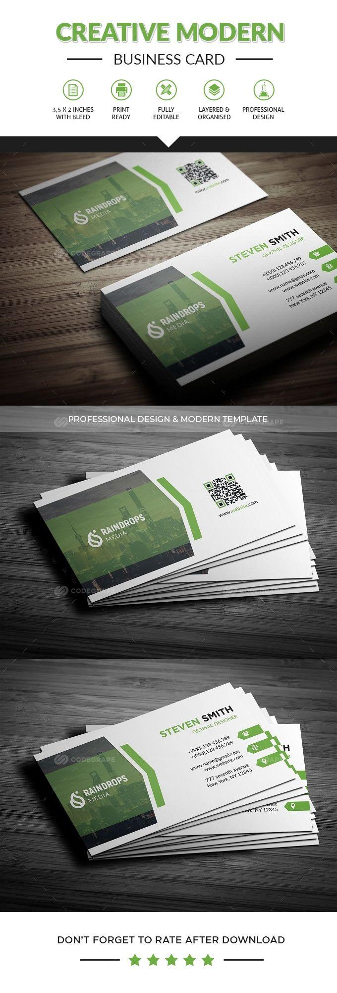 Corporate Business Card Business Card Template Psd Business Cards Modern Business Cards