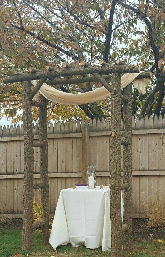 How great is this arbor?! Chris & Matt gave it to The Ranch as a gift, so now we have this beautiful handmade arbor for other couples!!!