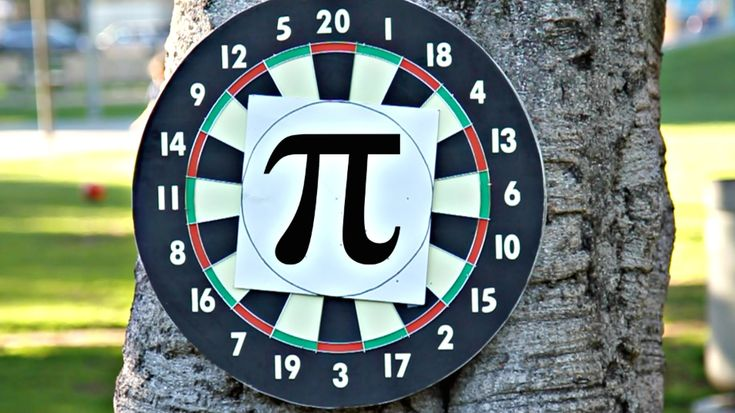 """Calculating Pi with Darts Pi can be calculated using a random sample of darts thrown at a square and circle target. The problem with this method lies in attempting to throw """"randomly."""" We explored different ways to overcome our errors."""