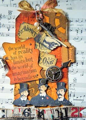 /Hang Tags, Fingers, Altered Tags, Cards Tags, Tim Holtz, Altered Art, Paper Crafts, Ink, Holtz Inspiration