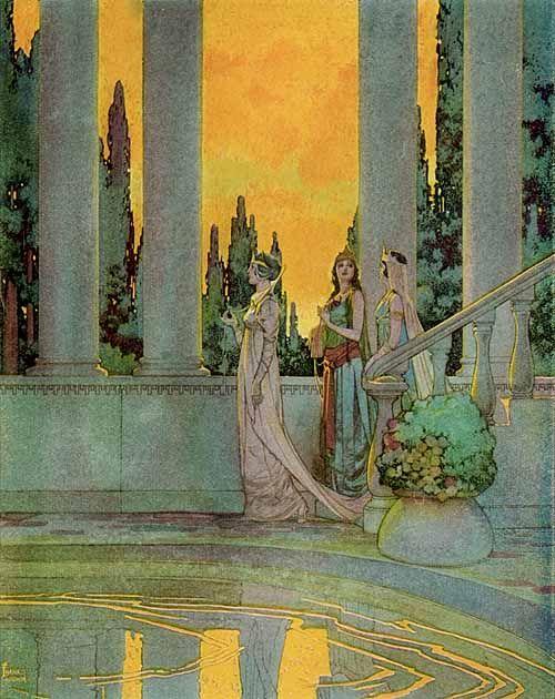 """""""The Blue Fairy Book"""" (1931) Godwin, Frank"""