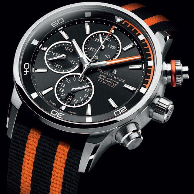 Maurice Lacroix Pontos S Diving Chronograph #MauriceLacroix Swiss Watchmakers #horlogerie #pontos @calibrelondon