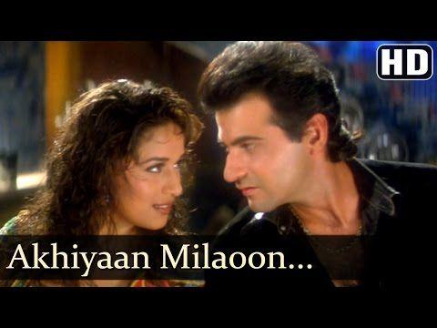 (14) Akhiyaan Milaoon Kabhi - Raja Songs - Madhuri Dixit - Sanjay Kapoor - Udit Narayan - Alka Yagnik - YouTube