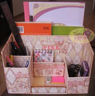 Organizador de escritorio hecho por un detalle precioso - Organizador escritorio ...