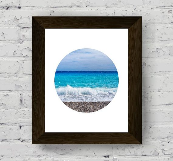 ocean print, beach photography, wall art prints, geometric wall art, modern poster, printable artwork, instant digital download