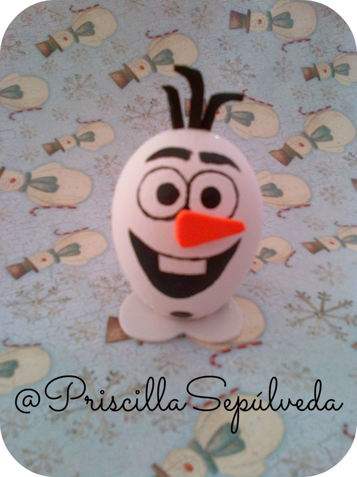 DIY Easter Eggs olaf #Easter #eggs #frozen #olaf