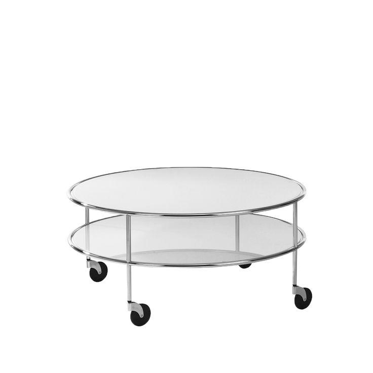 Chicago 3 soffbord - glas frostat, kromstativ Soffbord & småbord – Möbler från Svenssons i Lammhult