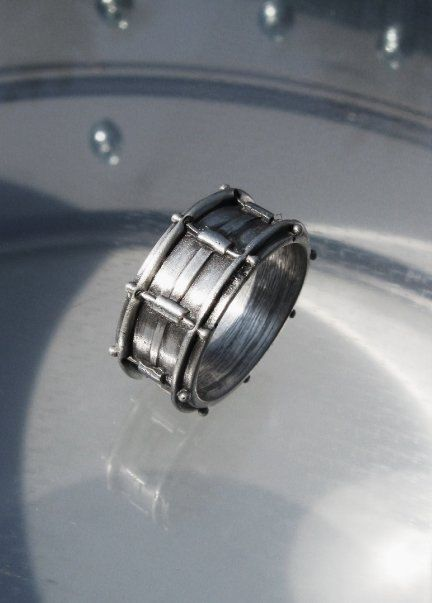 Snare Drum Ring for Andy! And it's affordable! by LeaFloriaJewellery on Etsy, $140.00