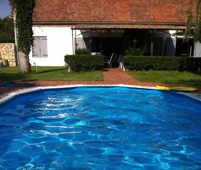 Oval pool, 1.1 m deep - Luxury Villa Art at Lake Balaton