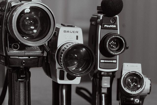 old super 8 video camera's