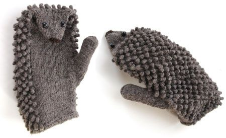 Hedgehog mittens - omg hysterical