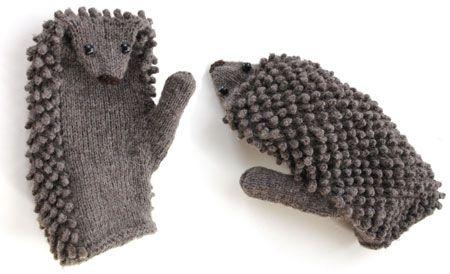 hedgehog mittens!