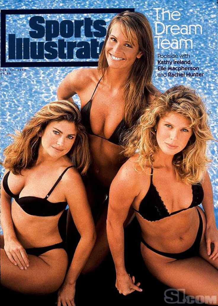 ELLE MACHPHERSON, KATHY IRELAND, & RACHEL HUNTER -Sports Illustrated models celebrate 50th anniversary - NY ...