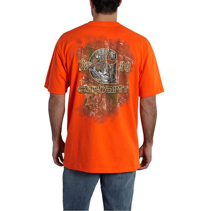 102040 Carhartt Workwear Graphic Faded Back Pocket Short Sleeve T-Shirt