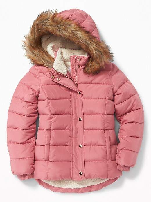 9ca34e56a900 Old Navy Sherpa-Lined Frost-Free Jacket for Girls