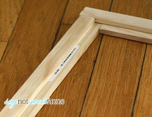 How to build a picture frame at Saynotsweetanne.com