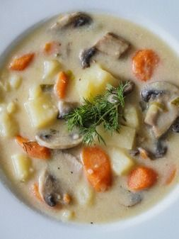 Russian Mushroom and Potato Soup...I am making this for my mother in law!