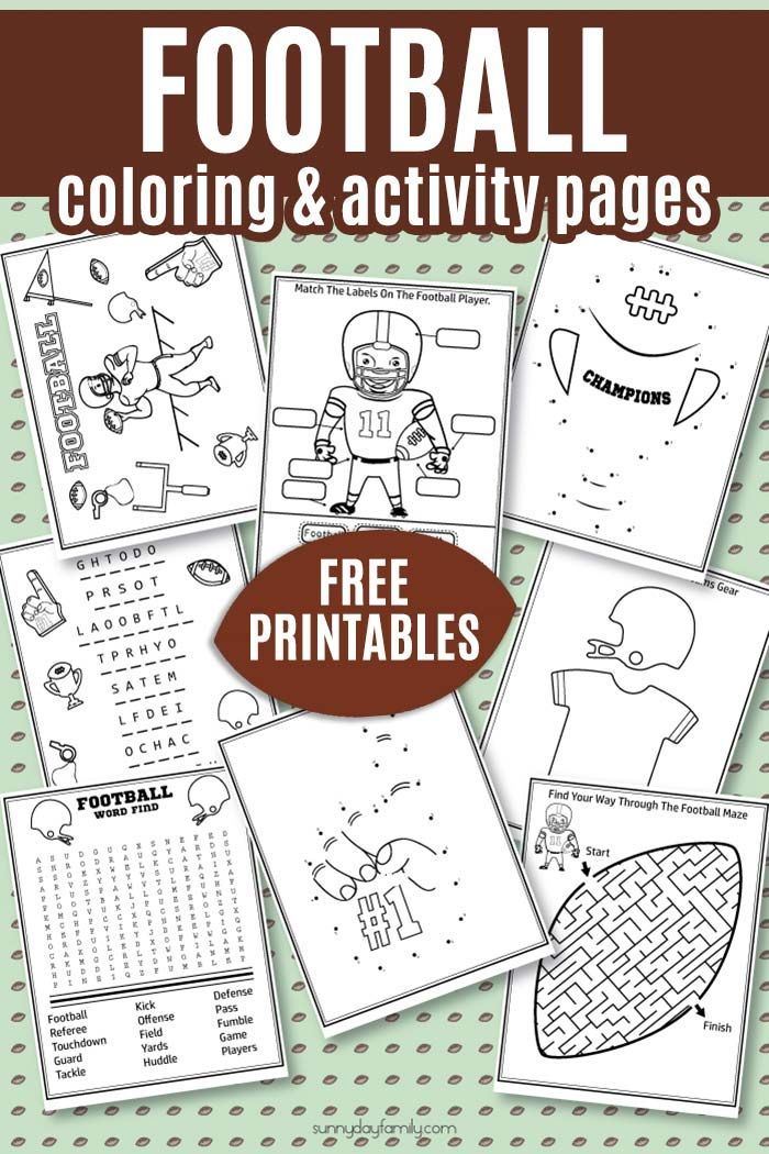 Free Printable Football Coloring Pages Activities For Big Game