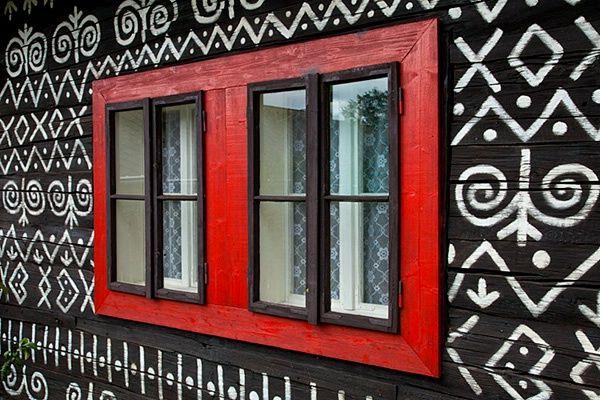 Window design in Cicmany, Slovakia by © Jim Zuckerman, via corporatefineart.com