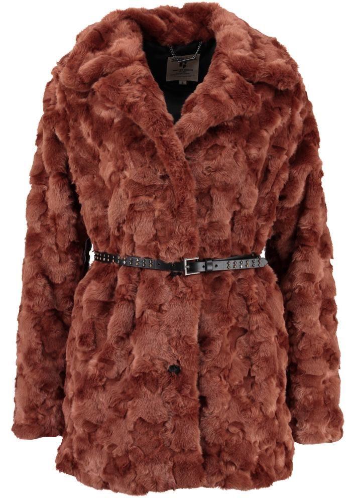 Garcia Fake Fur Jakke I70102 Ladies Outdoor Jacket - dark rust