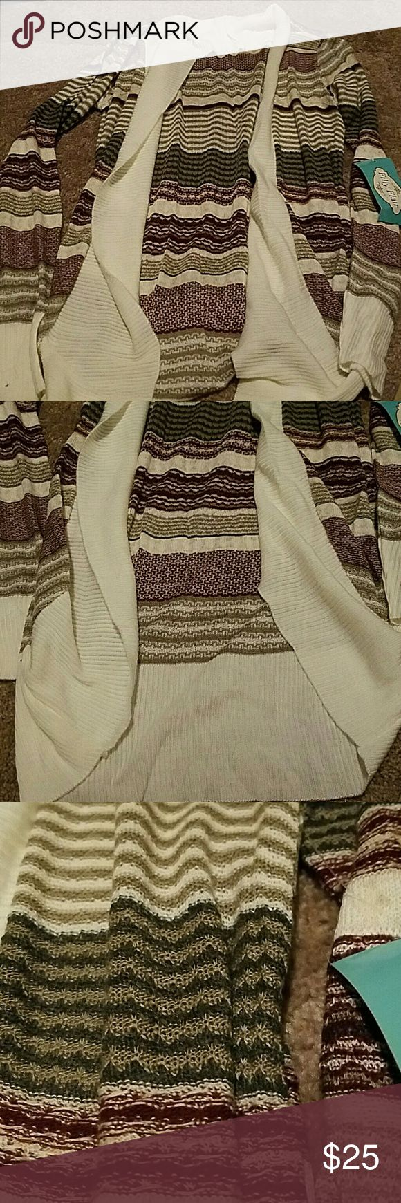 NWT Filly Flair cardigan NWT, cocoon style cardigan. Filly Flair Sweaters Cardigans